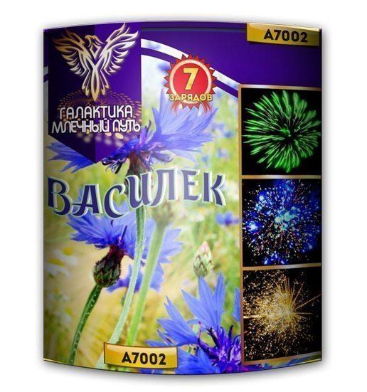 МПА7002 7 зар. батарея салютов Василек 30/2