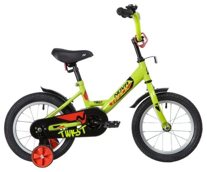 """Велосипед детский двухколесный NOVATRACK TWIST  14"""" 2020"""