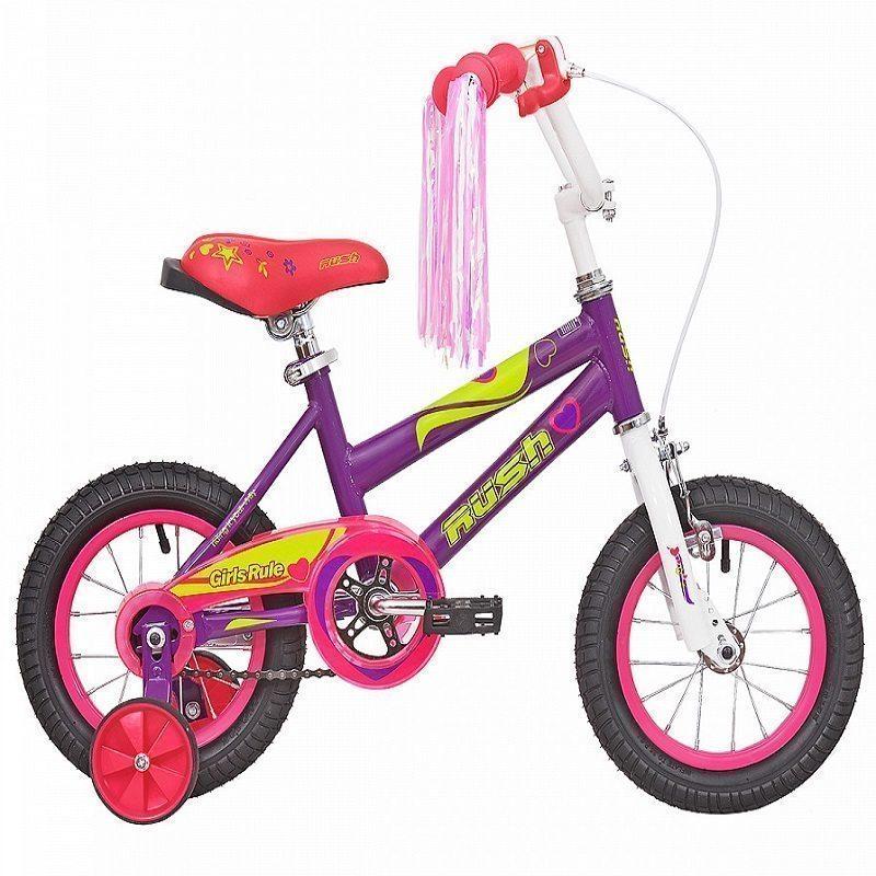 """Велосипед 12"""" RUSH HOUR GIRL RULS"""