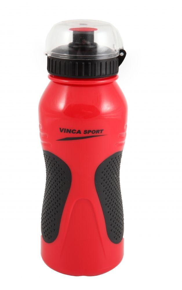 Фляга велосипедная с защитой от пыли 600мл, красная, инд. уп. Vinca Sport